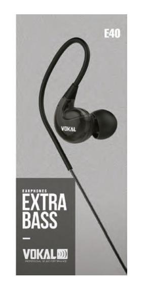 Fone De Ouvido Retorno Vokal E40 Vermelho Monitor In Ear