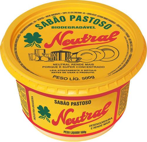 Sabão Em Pasta Para Lava Louças Neutral 500g - Kit Com 18 Un