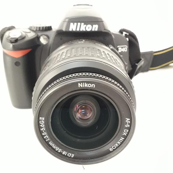 Nikon D40 + Lente 18-55mm+ Cartão16gb + Bateria + Carregador