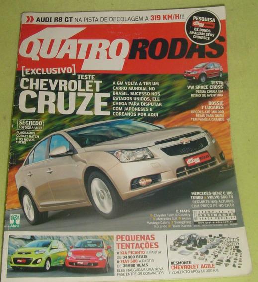 Revista Quatro Rodas -edição 621 -setembr De 2011 -f. Grátis