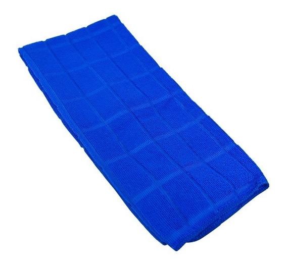 2 Panos De Microfibra Azul Simona