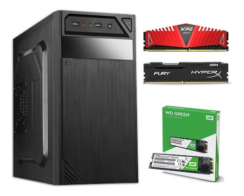 Pc Gamer A12 8870 Apu R7 8gb Ddr4 - Ssd Wd Green M.2 240gb