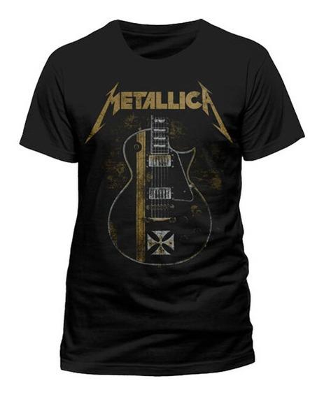 Playera Camiseta Banda Metallica Thrash Metal Bajo Eléctrico