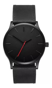 Relógio Masculino Quartzo Casual De Couro Executivo + Brinde