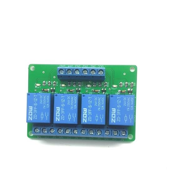 Módulo Rele 24v Automação 4 Reles - Interface 4 Reles