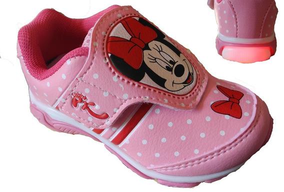 Tênis Infantil Fantasia Minnie Disney Ascende Pisca Luz