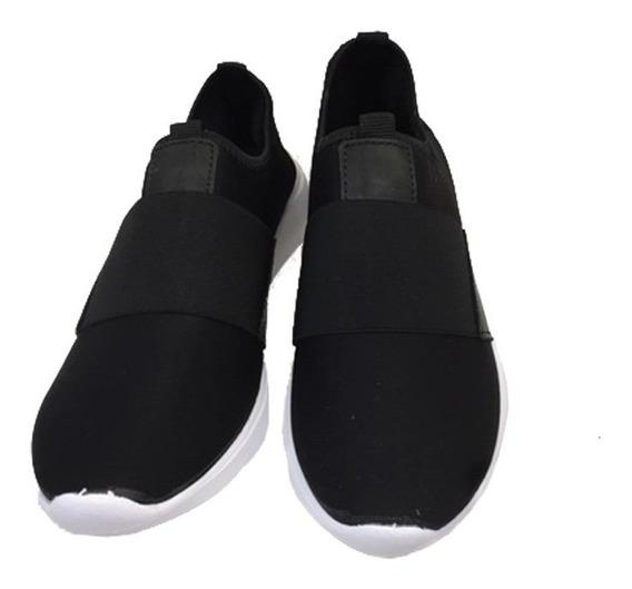 Zapatillas Cómodas Para Damas Modelo Fox / Negro
