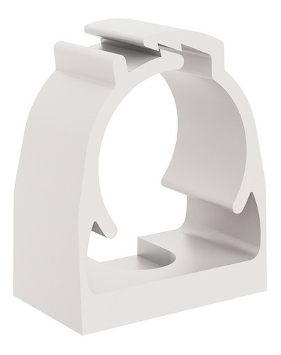 Kit 20pçs Abraçadeira Click P/tubo Pvc 1pol Branca