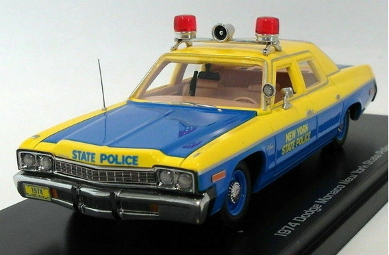 Dodge Monaco Policia De Nueva York 1971 1/43 Auto World