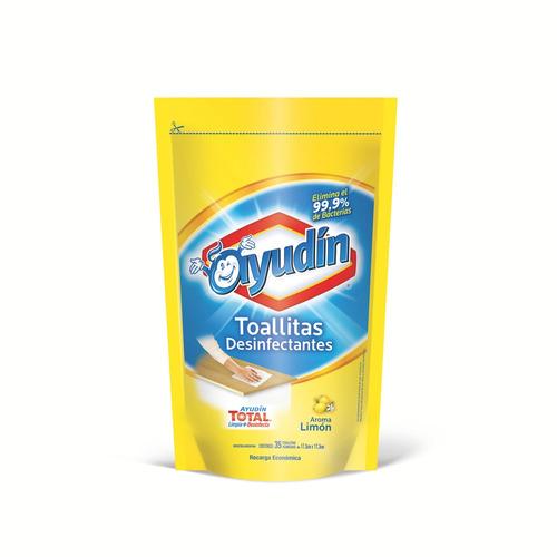 Toallita desinfectante Aroma Limón Ayudín envase económico35u
