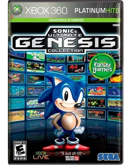 Sonics Ultimate Genesis Collection Xbox 360 Mídia Física