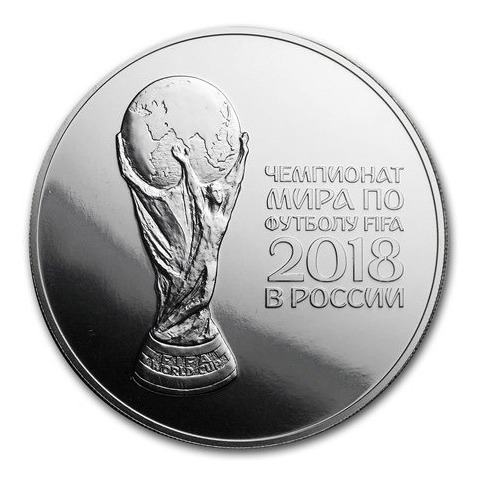 Moeda De Prata 1 Oz Copa Da Rússia 2018 Fc