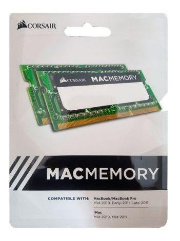 Memória Sodimm Notebook Kit 16gb (2x8) Ddr3 1333 Mac Corsai