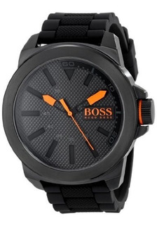 Boss Orange Hombre 1513004 Nueva York Negro Reloj De Acero I