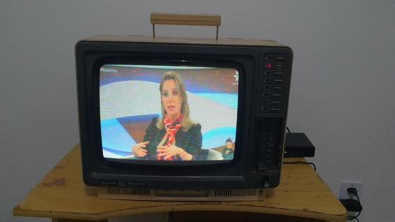 Tv Televisão Antiga Sharp C1401 Funcionando