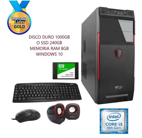 Cpu Computadora Core I3 9na 1tb O Ssd 240gb 8gb Incluye Iva