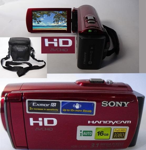 Filmadora Sony Hdr-cx150 Full Hd Alta Definição De Imagem