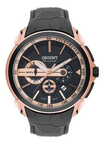 Relógio Masculino Orient Mrscc015 P1px Cronógrafo Rosê