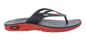 Chinelo Oakley Rest 2.0 Red Line