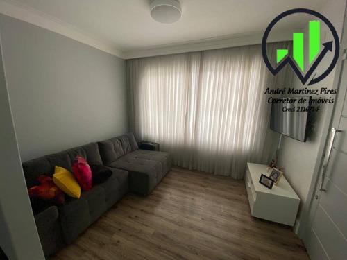 Lindo Sobrado Com 3 Dormitórios - Encruzilhada - Santos/sp - 98