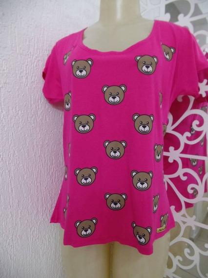 Blusa Pink Estampa Ursinhos
