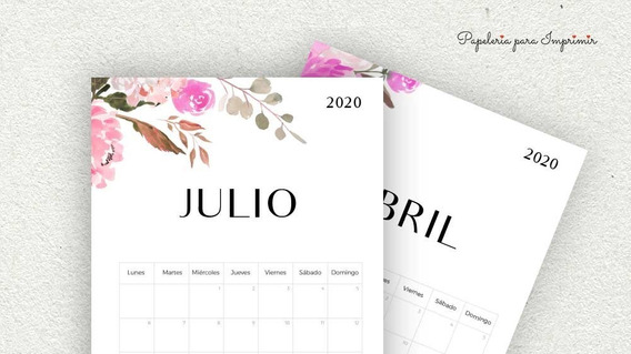 Kit Imprimible Calendario + Pack Agenda 2020