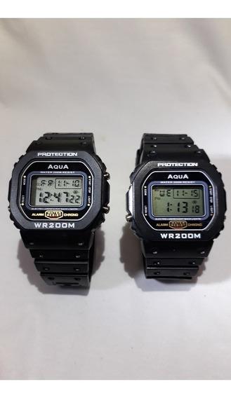 Kit 6 Relógio Aqua 4 Gp 519 + 2 Aq 81 Prova D