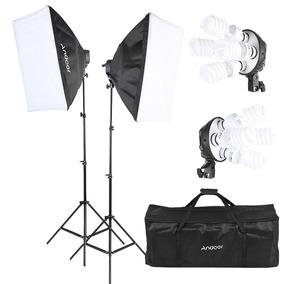Andoer Estdio Photo Lighting Kit Com 2 Eu