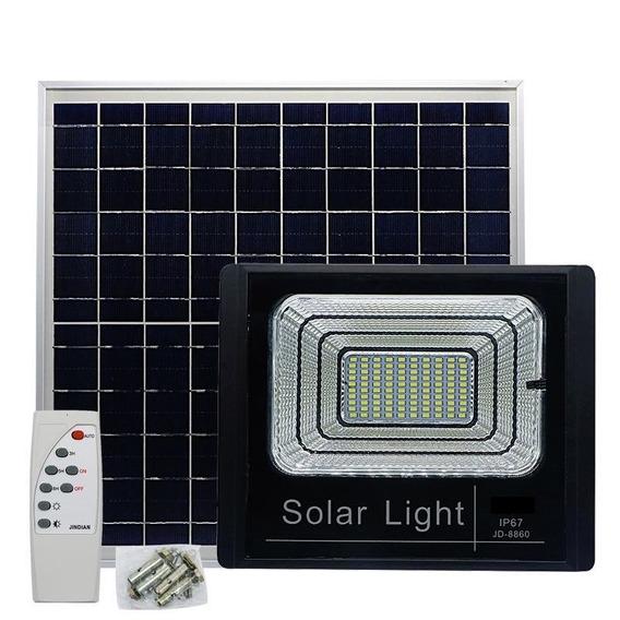 Luminária Refletor Led 40w Resistente Água Jardim Luz Solar