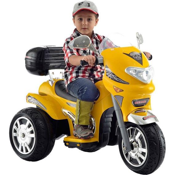 Mini Moto Eletrica Infantil Amarela Sprint Turbo 12v Biemme
