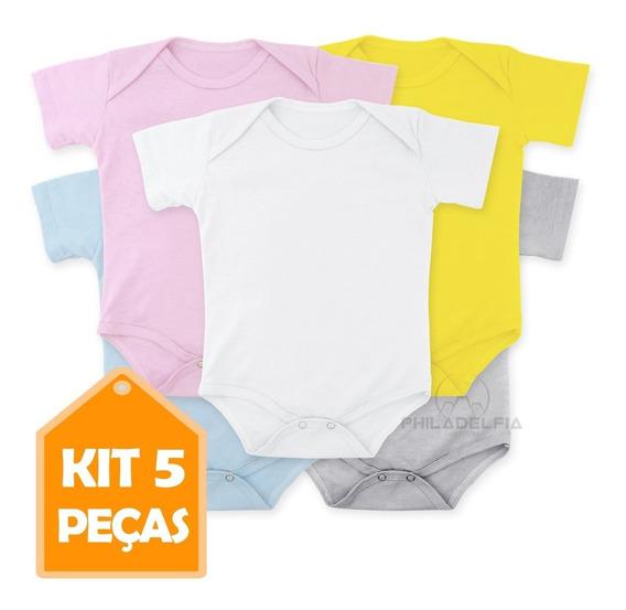 Body Bebê Liso Atacado 100% Algodão - Alta Qualidade Kit