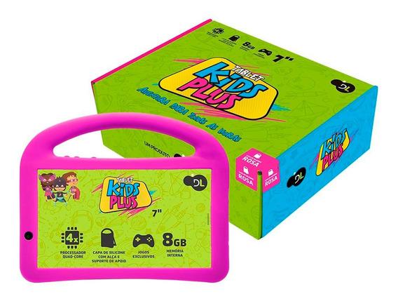 Tablet Dl Kids Plus 7p 8gb Wi-fi Camera Frontal Rosa Bivolt