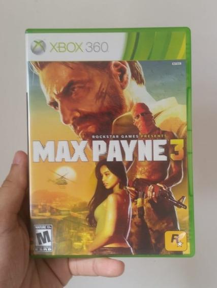 Jogo Max Payne 3 Original Mídia Física Xbox 360 - Frete R$12