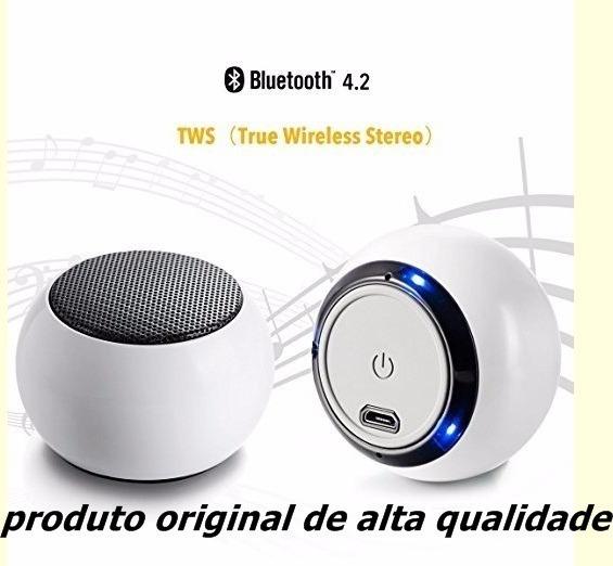 Caixa De Som Bluetooth Mini Original Kits 2 Caixinhas Feitun