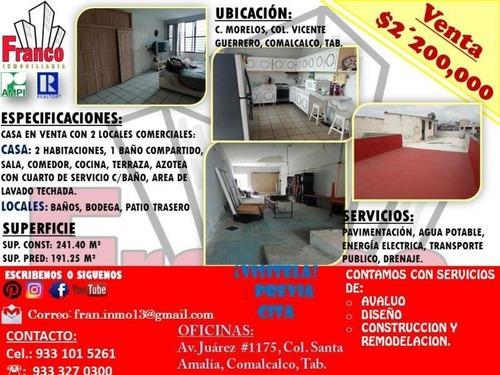 Casa Uso De Suelo En Venta Vicente Guerrero