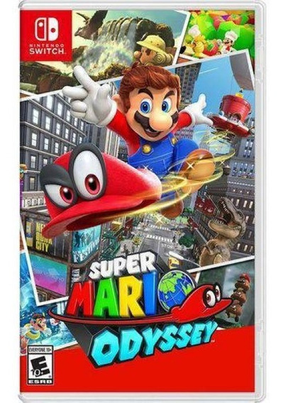 Jogo Super Mario Odyssey Switch Mídia Física Original