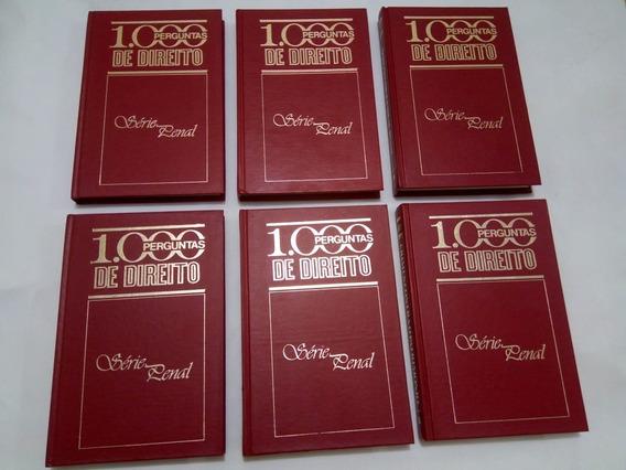 Livro Coleção 1000 Perguntas De Direito Penal 6 Livros