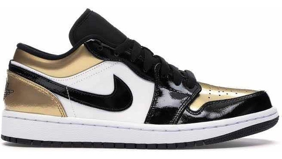 Sneakers Originales Jordan 1 Low Gold Toe Dorados Original