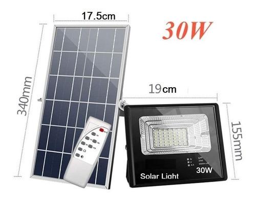 Panel Solar - Reflector Exteriores 30w- Luzled Lampara Foco