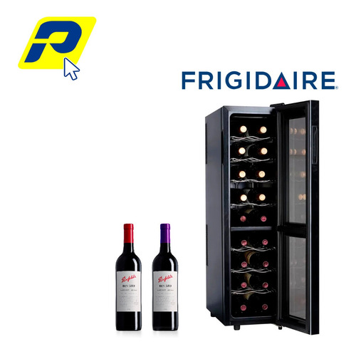 Cava De Vino 18 Botellas Frigidaire Negra Panel Touch