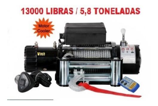 Guincho Elétrico 12000/13000lbs Winch Com Cabo Aço