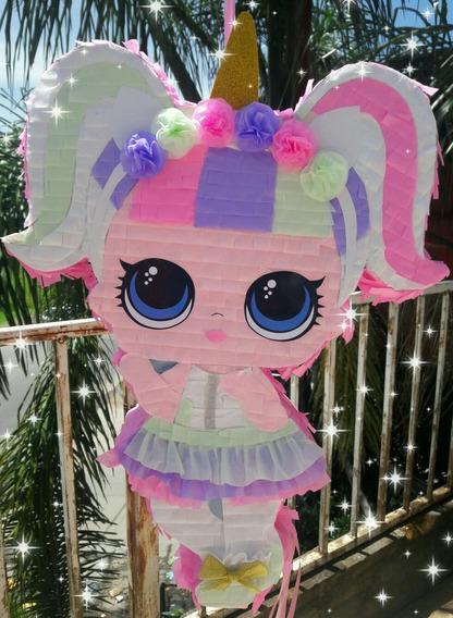 Piñata Muñeca Lol Unicornio Queen Bee Y Mas Modelos!!!