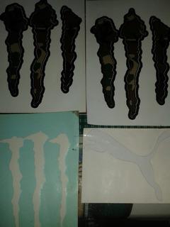 Calcomanias Monster Energy Y Puma Importadas