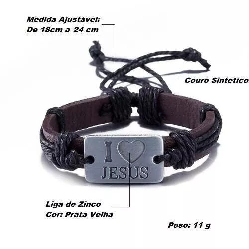 Pulseira Couro Masculino Feminino Bracelete Confortável