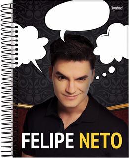 Caderno Felipe Neto 1 Materia Com Adesivos Fyhfyr