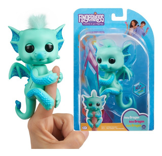 Fingerlings Dragón Noa Interactivo + D 40 Sonidos - Original