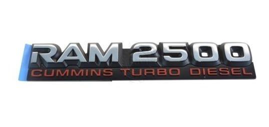 Yuauto 2Pc Dodge Ram Cummins SRT6 Badge Emblem for Dodge Ram 2500 3500 Turbo Diesel SRT Black red