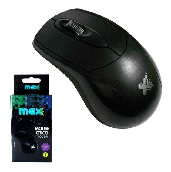 Mouse Usb Óptico Scroll Preto 60615-7 - Maxprint