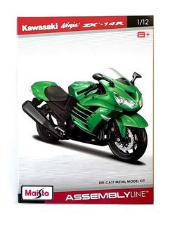 Miniatura Moto - Kawasaki Ninja Zx-14r - Kit Assemblyline -