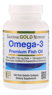 Omega 3 Premium,100 Caps,califórnia Gold,o Mais Vendido Eua